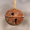 Vintage Glitter Rusty Bell Ornament