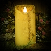 3×6 REAL LOOK FLAMELESS TIMER CANDLE-WINTER CREAM WITH MICA