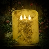 5×6 REAL LOOK FLAMELESS TIMER CANDLE-WINTER CREAM WITH MICA