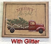 8X10 TRUCK MERRY AND BRIGHT
