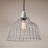 Industrial Cage Pendant in Weathered Zinc