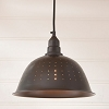 Colander Pendant Light in Smokey Black