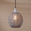 Nesting Wire Hanging Light in Weathered Zinc