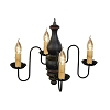 Abigail Wooden Chandelier in Black Crackle Over Barn Red