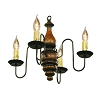 Abigail Wooden Chandelier in Pumpkin Spice