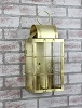 Danbury Medium Wall Lantern Raw Brass