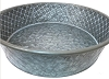Round Metal Tray-Textured Aluminum-16