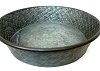 Round Metal Tray-Textured Aluminum-14.5
