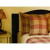 Chesterfield Check Barn Red Pillow Cover Oat-Barn Red