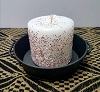 Peppermint Stick Pillar Candle 3 x 3