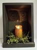 Tall Tin Candle Box Black