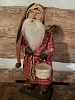 Primitive Arnett Santa In Red Homespun Holding Pantry Box