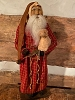 Primitive Arnett Santa In Red Homespun Holding Sheep