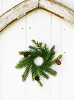 White Spruce Candle Ring with Cones - Tiny