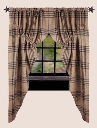 Chesterfield Check Prairie Curtain