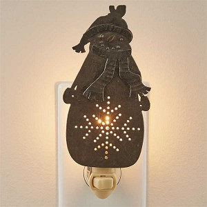 Northwoods Snowman Night Light
