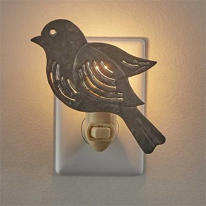 Galvanized Bird Night Light