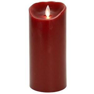 Mystique Red Smooth 7 Inch Pillar Flameless Candle