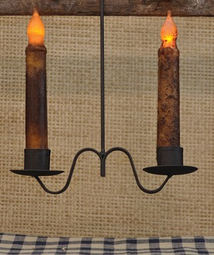 Double Candle Holder- Hanging