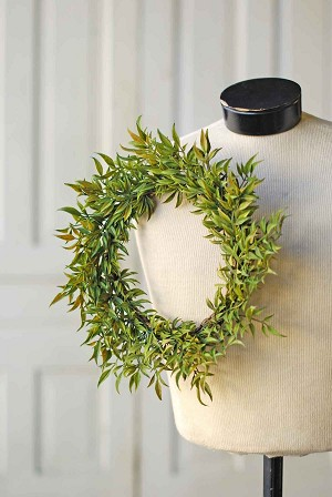 Smilax Candle Ring | Green | 12