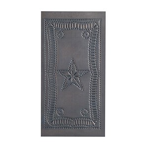 Small Vertical Federal Panel in Blackened Tin