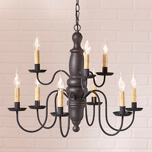Fairfield Wooden Chandelier in Americana Black