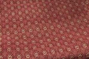 PACKSVILLE ROSE QUEEN BED COVER CRANBERRY/TAN