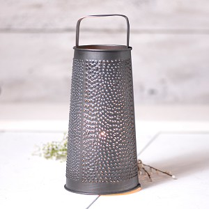Round Grater Accent Light in Antique Tin