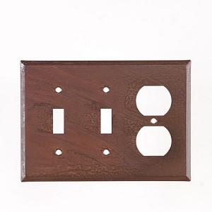 Double Switch/Single Outlet Combo Rustic Tin