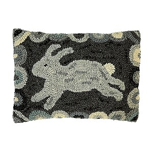 12 X 16'' GREY RABBIT PILLOW