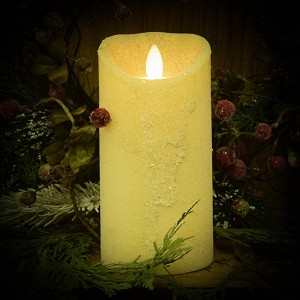 3×6 REAL LOOK FLAMELESS TIMER CANDLE-WINTER WHITE