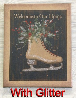 8X10 SKATE WELCOME TO OUR HOME