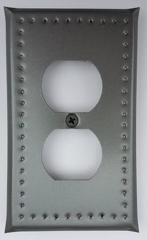 Tin Single Outlet Cover Border Punch